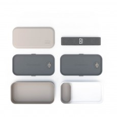 Monbento Bento Original-2 Fächer-Grau und weiß-listing