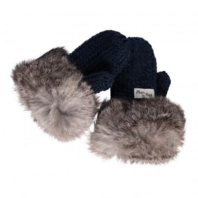 Petit Nord Fur Pompom Wool Mittens-listing