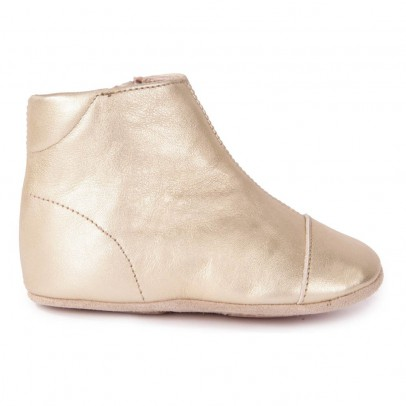 Petit Nord Zip Leather Slippers-listing