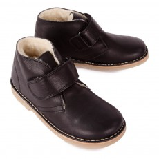 Petit Nord Fur Velcro Desert Boots-listing