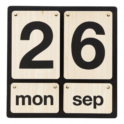 House Doctor Wooden Perpetual Calendar-listing