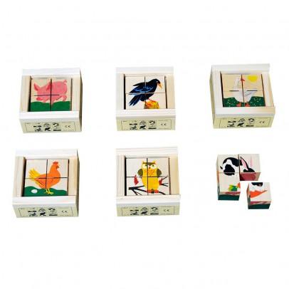 Atelier Fischer Puzzle 4 cubes Animaux domestiques-listing