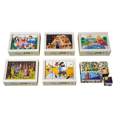 Atelier Fischer Puzzle 12 cubes Contes-listing