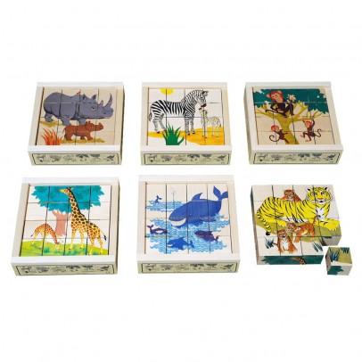 Atelier Fischer Puzzle 16 cubes Animaux sauvages-listing