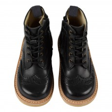 Young Soles Boots Bout Fleuri Cuir Sidney-listing