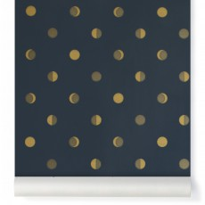 product-Bartsch Crescent moons wallpaper - Ink Midnight blue