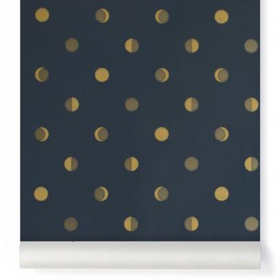 Bartsch Papier peint Croissants de Lune - Encre Bleu nuit-listing