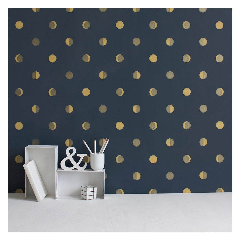 Bartsch Crescent moons wallpaper - Ink Midnight blue-product
