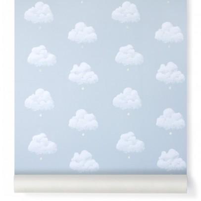 Bartsch Papier peint Nuages de Coton - Bleu Fumée-listing