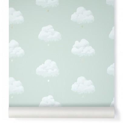 Bartsch Carta da parati Nuvole di Cotone - Verde acqua-listing