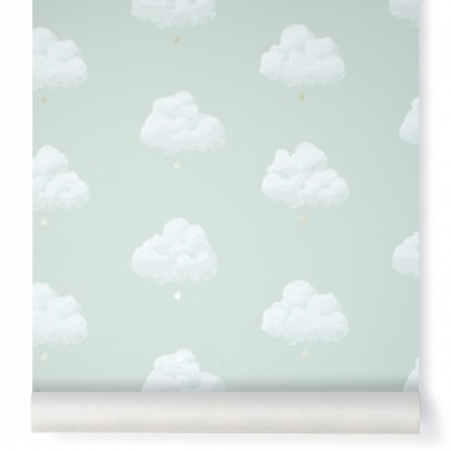 Bartsch Papier peint Nuages de Coton - Vert d'eau-listing