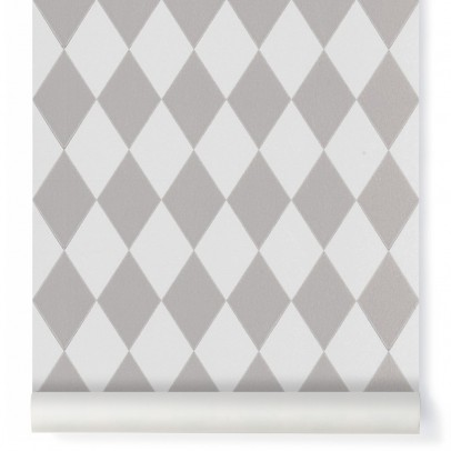 Ferm Living Harlequin Wallpaper - grey-product