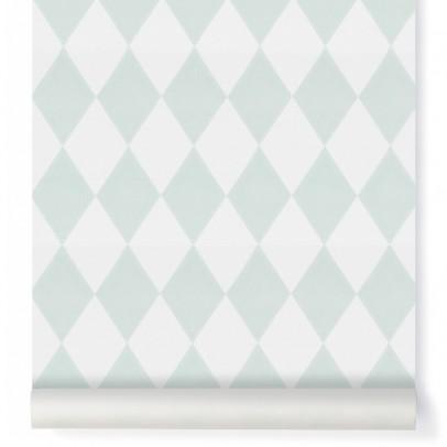 Ferm Living Papier peint Harlequin - Vert menthe-listing