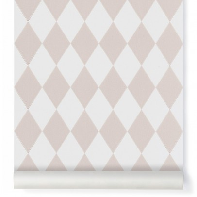 Ferm Living rlequin Wallpaper - pink-product