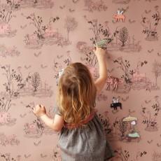 Sian Zeng Papier peint magnétique Woodland et aimants - Rose poudre-listing