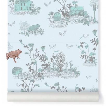 Sian Zeng Papier peint magnétique Woodland et aimants - Bleu gris-listing