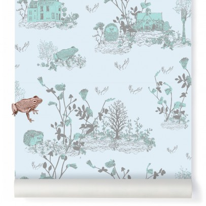 Sian Zeng Woodland magnetic wallpaper and magnets - grey blue-listing