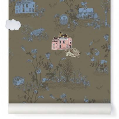 Sian Zeng Papier peint magnétique Woodland et aimants - Vert Kaki-listing