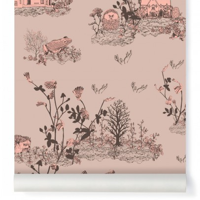 Sian Zeng Papier peint Woodland - Rose poudre-listing