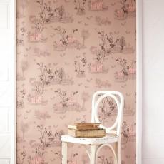 Sian Zeng Tapete Woodland - Puder Rosa-listing