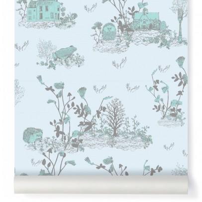 Sian Zeng Papier peint Woodland - Bleu gris-listing