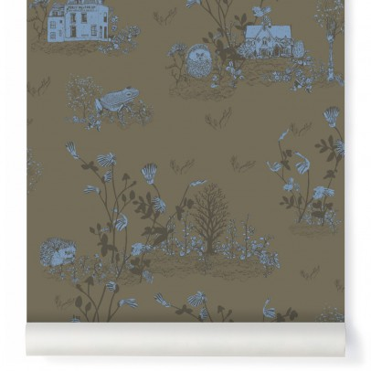Sian Zeng Papier peint Woodland - Vert Kaki-listing