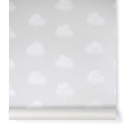 Bartsch Papier peint Nuage de coton - Gris petit matin-listing