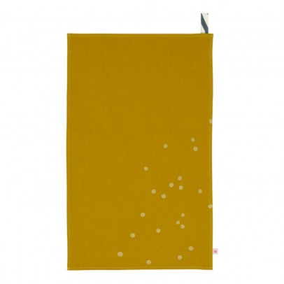 La cerise sur le gâteau Canovaccio overdye in tela di cotone a pois oro 50x80cm-listing