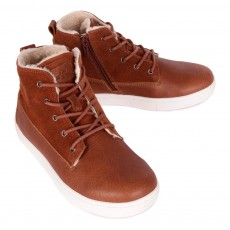 Rugged Gear New Cup Joe Fur Leather Mid Trainers-listing