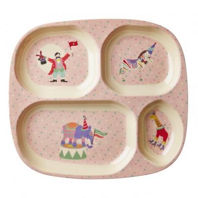 Rice Piatto scompartimenti circo bambina-listing
