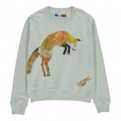 G.KERO Fox and Rabbit Sweatshirt-listing