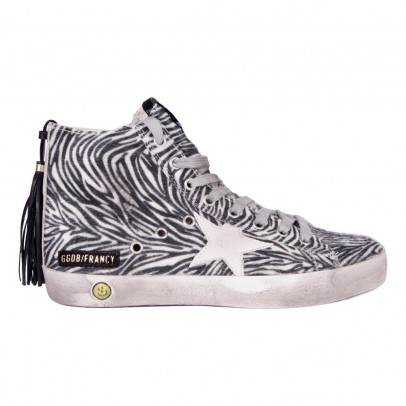 Golden Goose Francy Zebra Pompom Zip-up Trainers-listing