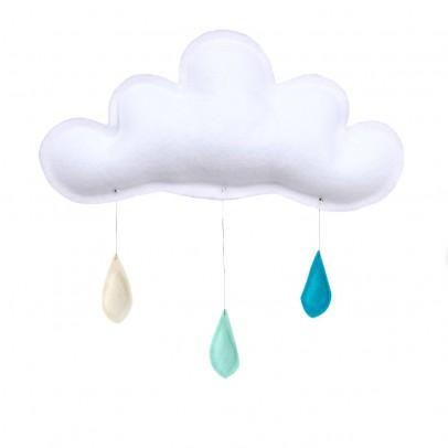 The Butter Flying Mobile Gouttes de pluie crème - menthe - turquoise-listing
