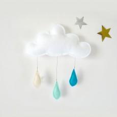 The Butter Flying Móvil Gotas de lluvia crema - menta - turquesa-listing