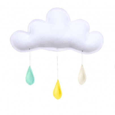 The Butter Flying Mint Raindrops Mobile - Yellow - Cream-listing