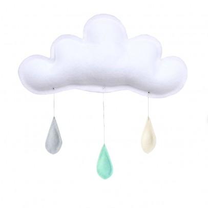 The Butter Flying Mobile Gouttes de pluie gris - menthe - crème-listing
