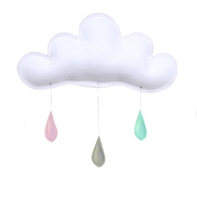The Butter Flying Peach/grey/mint raindrops mobile-listing