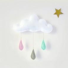 The Butter Flying Mobile Gouttes de pluie pêche/gris/menthe-listing