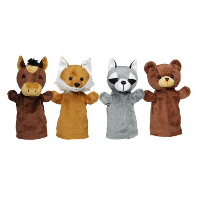 Goki Animal Puppets - Set of 4-listing