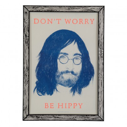THE prints by Marke Newton Don't worry be hippy Poster 29.7 x 42cm-listing