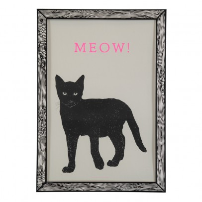 THE prints by Marke Newton Meow Poster 29.7 x 42cm-listing