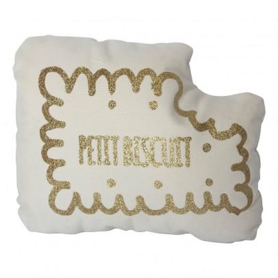 Annabel Kern Cuscino Biscotto con paillettes oro-listing