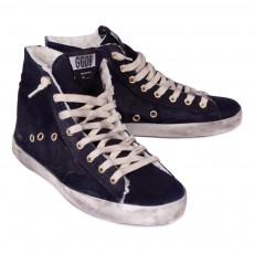 Golden Goose Francy Denim Fur Zip-up Trainers-listing