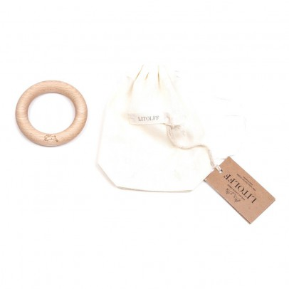 Litolff Wooden Teething Ring - Rabbit-listing