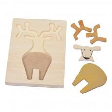 Bass & Bass Deer Print Puzzle-listing