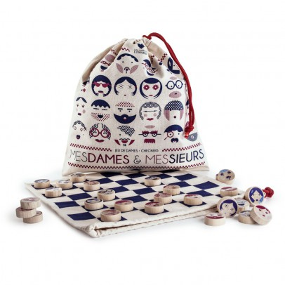 Les Jouets Libres Checker game Mesdames & Messieurs-listing