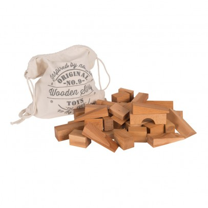 Wooden Story Natural wooden blocks - 100 pieces-listing