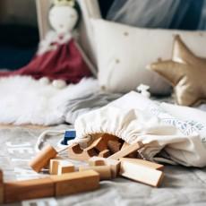 Wooden Story Bloques madera natural en bolsa - 100 piezas-listing
