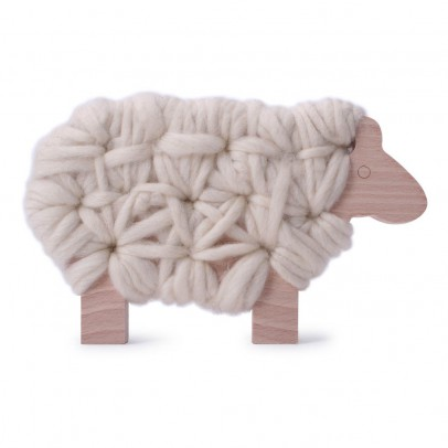 Les Jouets Libres Woody Lacing Sheep - Ecru-listing