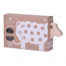 Les Jouets Libres Woody Lacing Sheep - Grey-listing